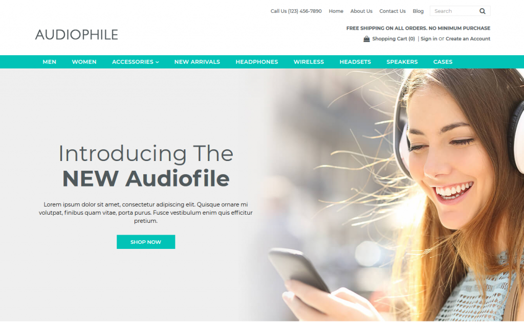 Audiophile Premium 3dcart theme