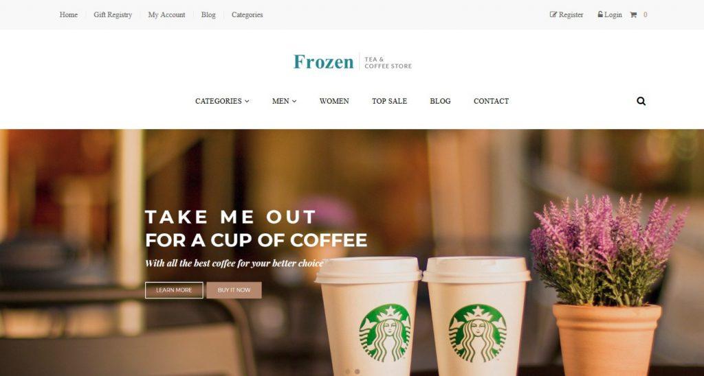 Frozen Premium 3dcart theme