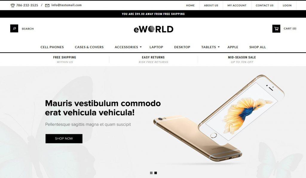 e World Premium 3dcart theme