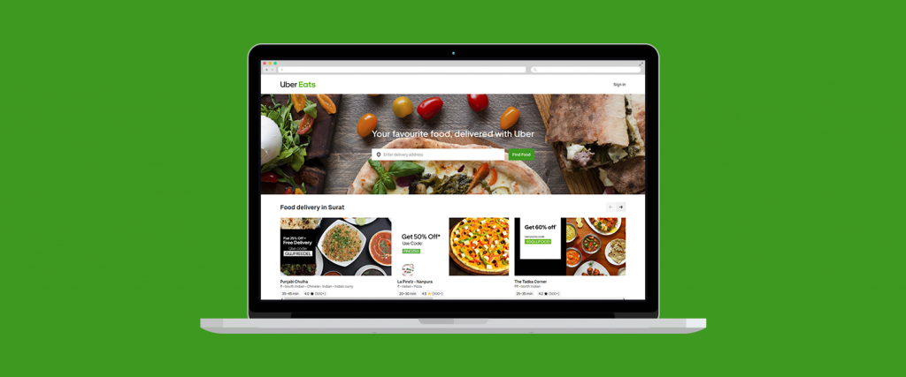 Uber Eats - Top 10 Online Food delivery websites