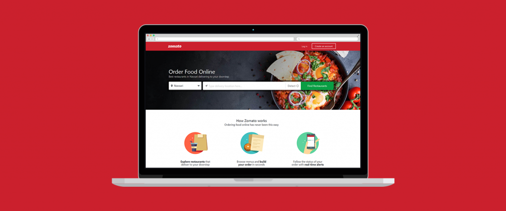 Zomato - Online Food delivery websites