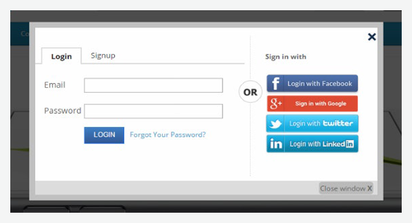 Facebook Google Login Registration Popup | ozxmod