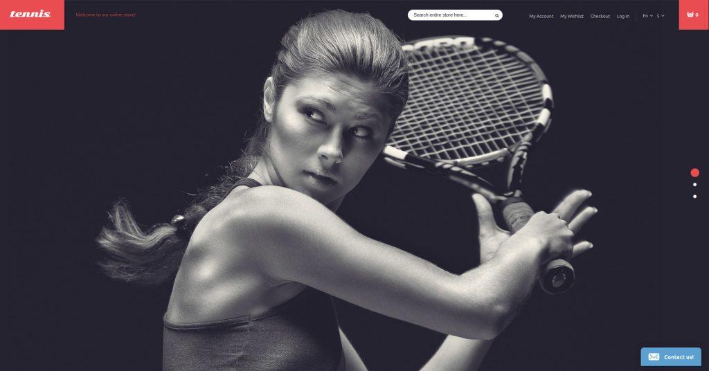 Tennis Equipment Magento Theme