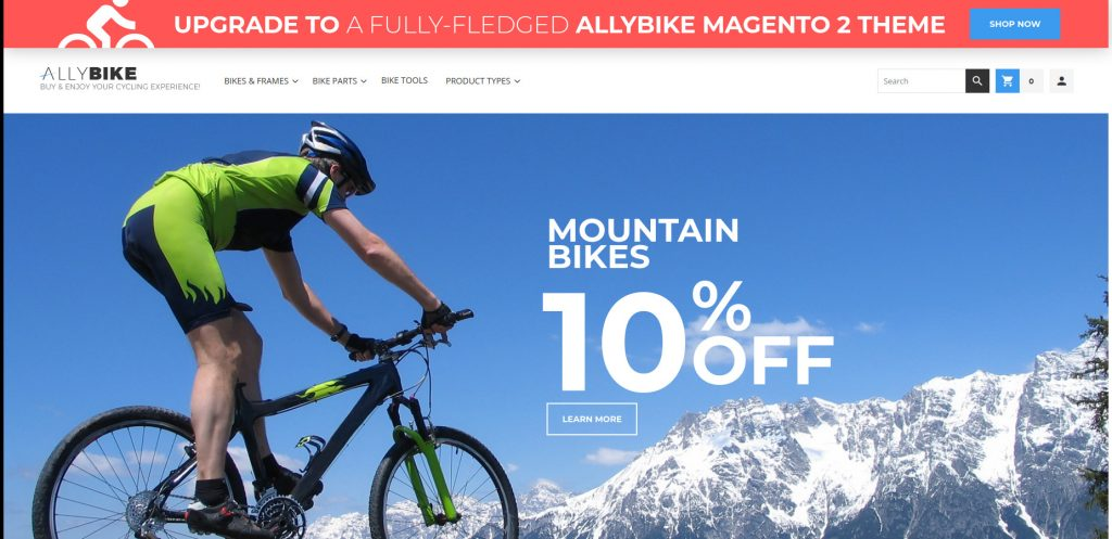 AllyBike - Fitness and Sports Magento 2 Themes