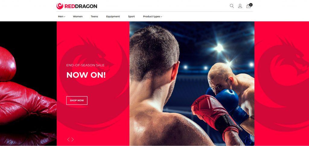 RedDragon - Martial Arts Shop Magento Theme