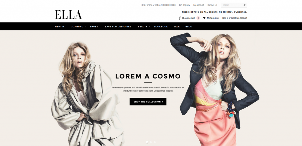 ELLA - Fashion and Accessories 3dcart Theme