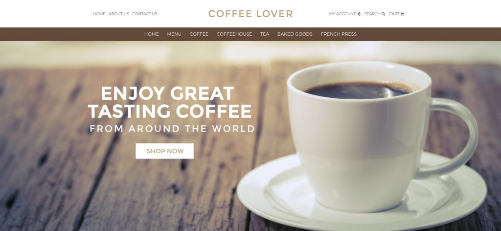 Coffee Lover - Food & Beverage 3dcart Theme