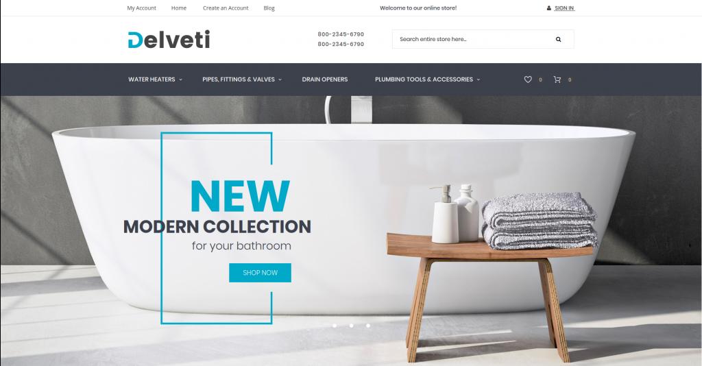 Delveti - Hardware & Sanitary Magento 2 Theme