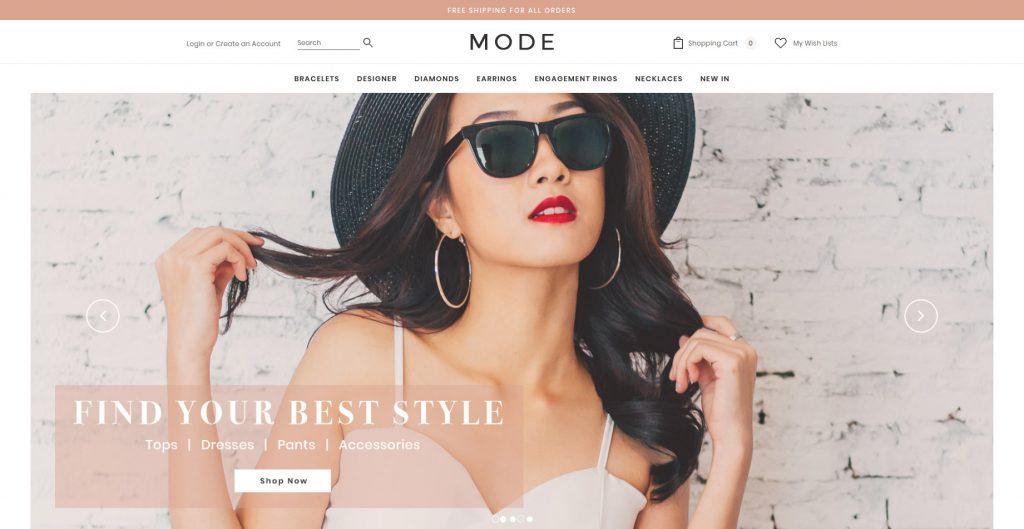 Mode 3dCart Theme