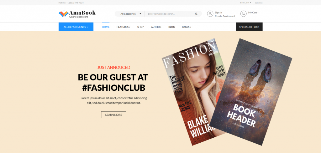 AmaBook - Books & Entertainment Magento 2 Theme