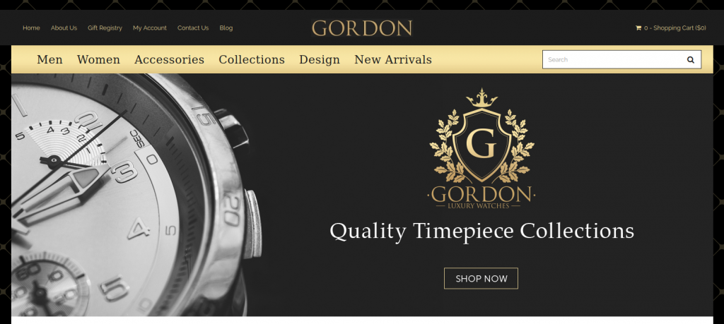 Gordon Watches - Watches & Jewelry 3dcart Theme