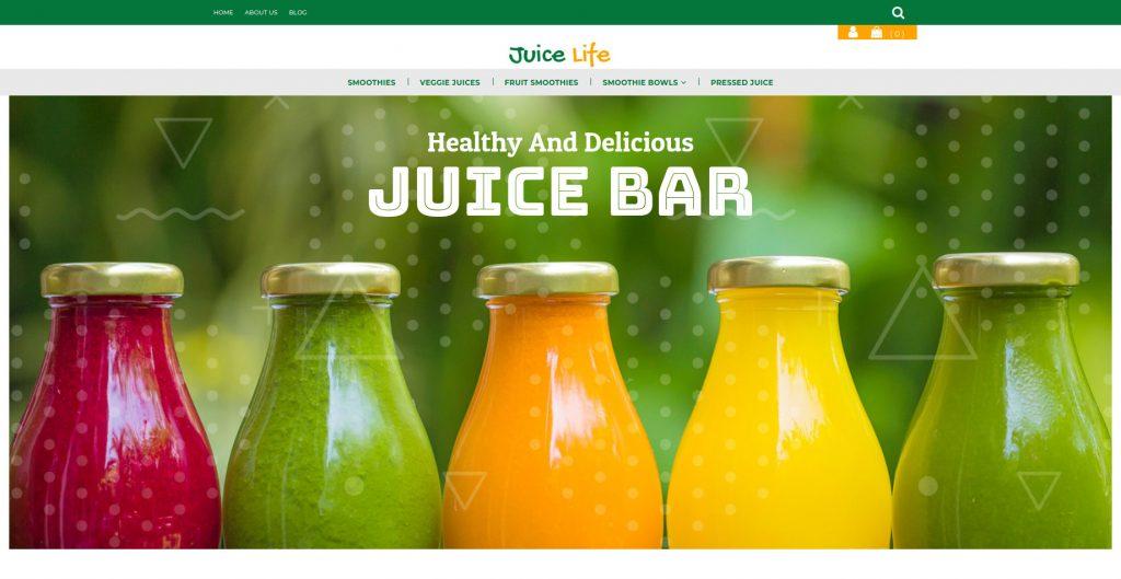 Juice Life 3dCart Theme