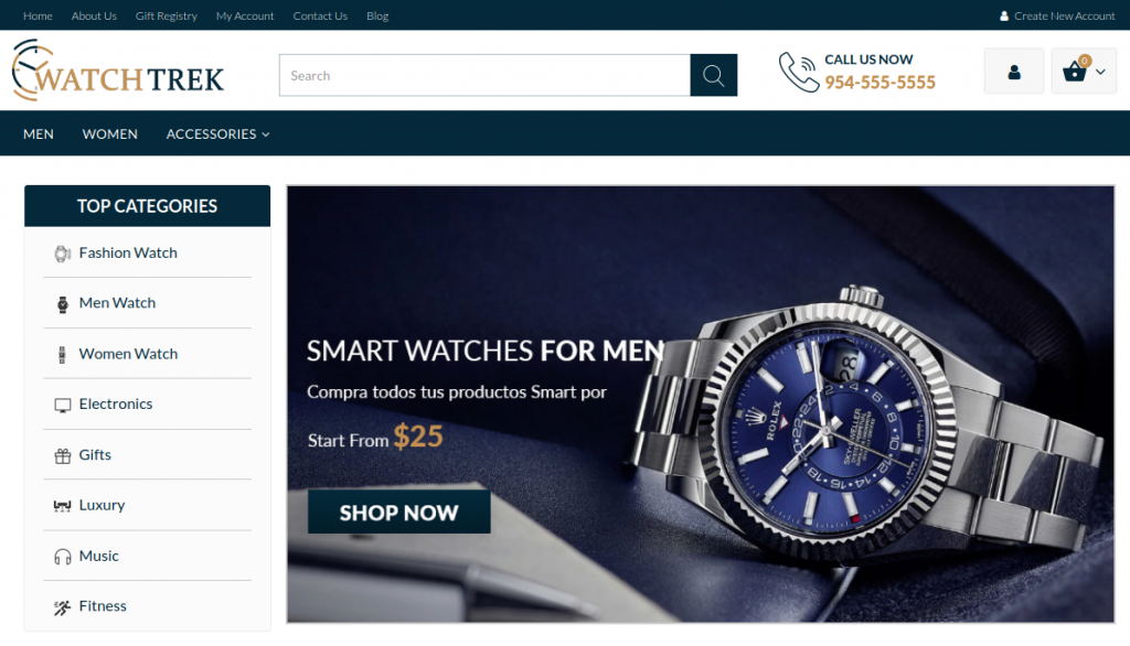 WatchTrek - Fashion and Accessories 3dCart Themes