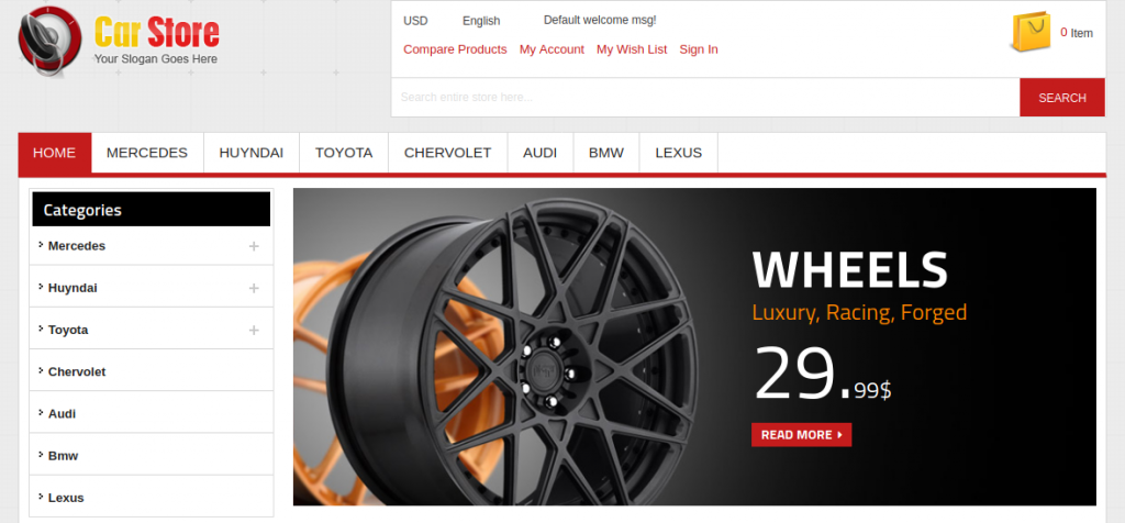 Accessories Car Magento 1 & 2 Theme