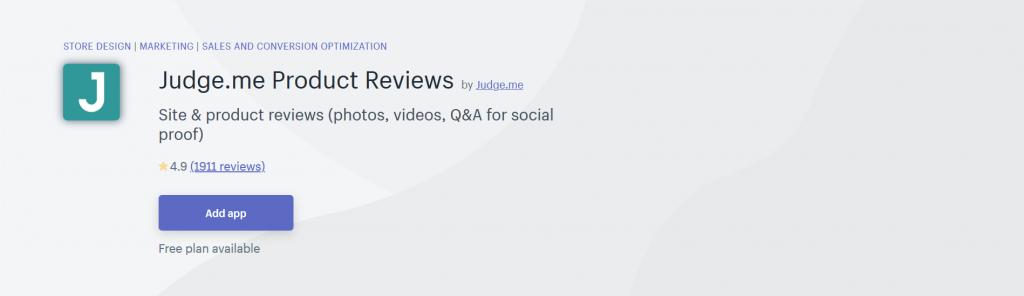 Judge.me Product Reviews - Conversion Optimization Shopify App