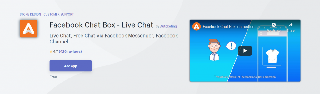 Facebook Chat Box - Live Chat