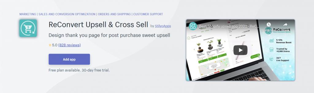 ReConvert Upsell & Cross Sell - Conversion Optimization Shopify App