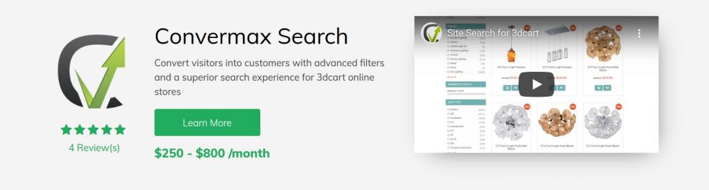 Convermax Search 3dcart App