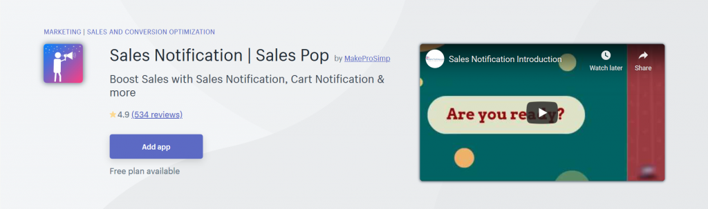 Sales Notification | Sales Pop
