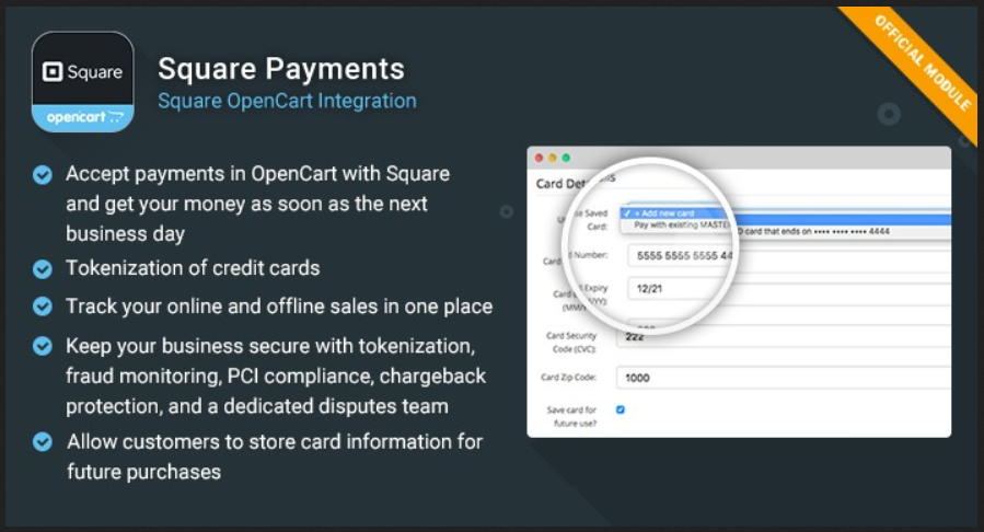 Square Payments OpenCart Extension