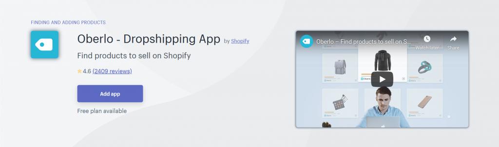Oberlo - Dropshipping App