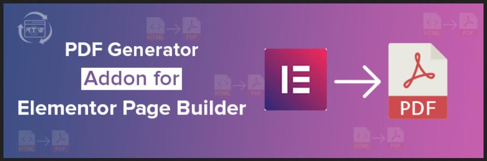 PDF Generator Addon for Elementor Page Builder