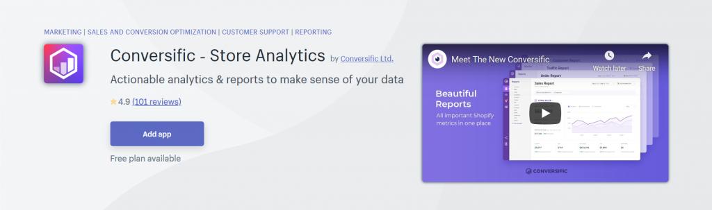 Conversific - Store Analytics