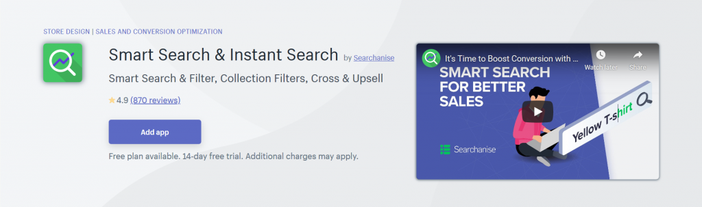 Smart Search & Instant Search