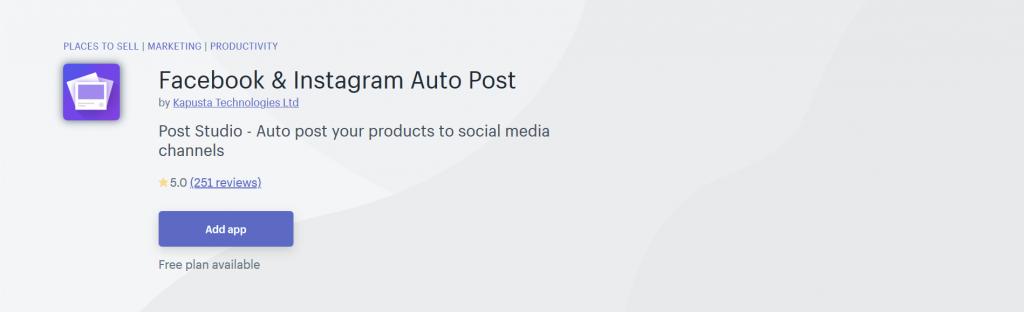 Facebook & Instagram Auto Post