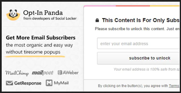 Opt-In Panda WordPress Plugin