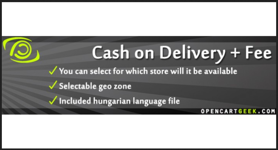 Cash on Delivery + Fee OpenCart Extension