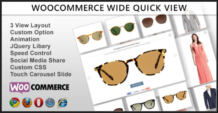 Wide Quick View Third Party WooCommerce Plugins