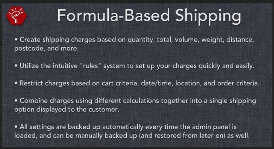 Formula-Based Shipping OpenCart Extension