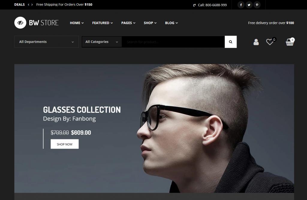 BW Store - Glasses Shopify Theme