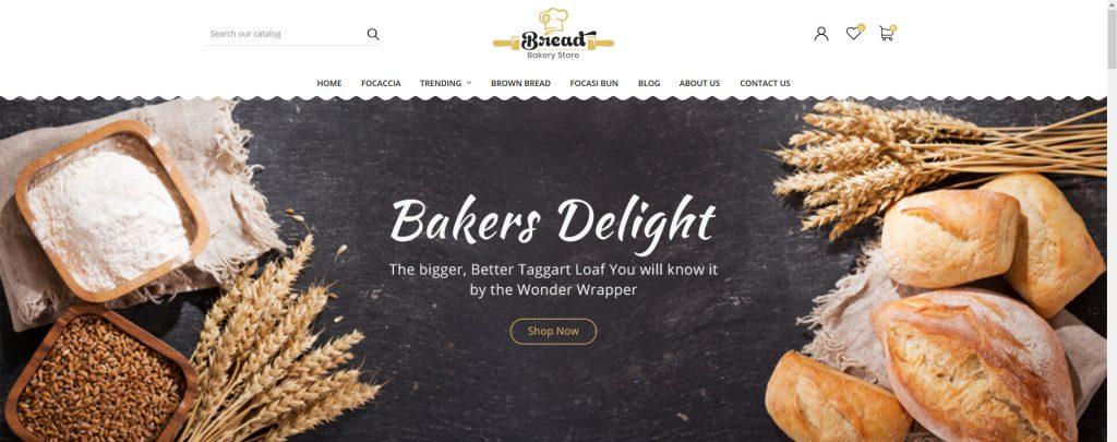 Bread bakery PrestaShop Theme
