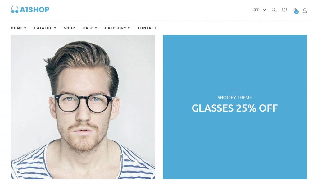 A1Shop - Glasses Shopify Theme
