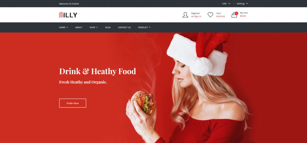 Billy - Food & Drink Shopify Theme