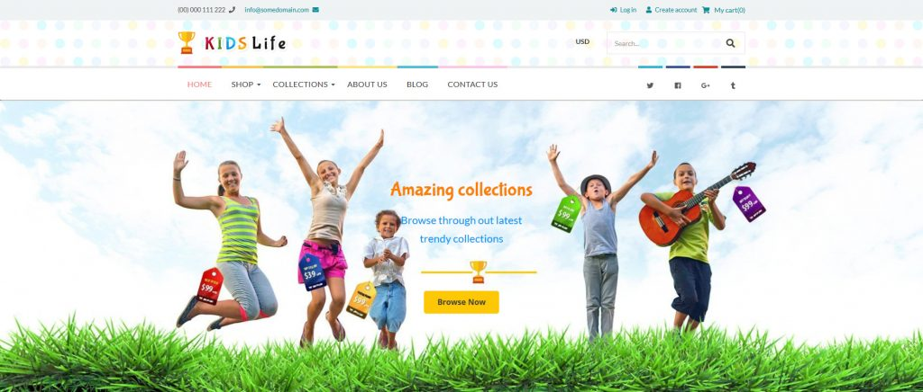 Kids Life - Kids and Toys Shopify Theme