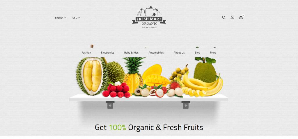 Farm Fresh Organic - Food & Beverages PrestaShop Theme