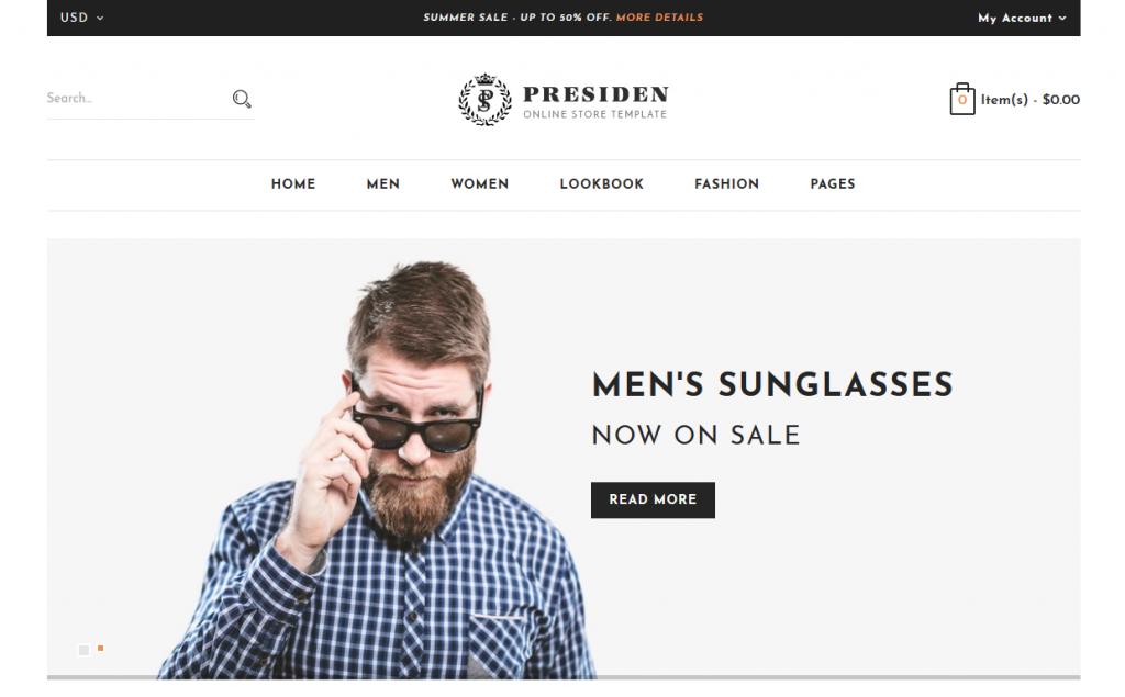 Presiden - Glasses Shopify Theme