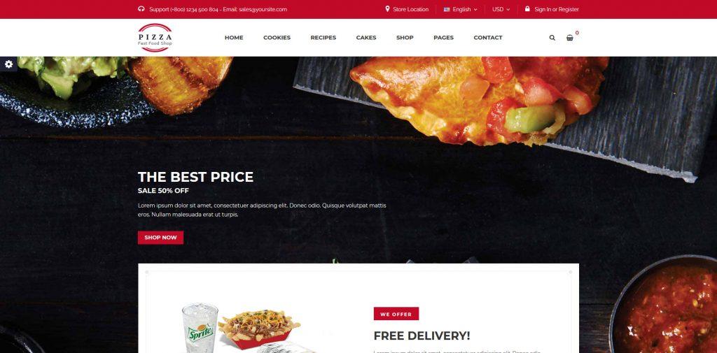 Pizza - Food & Beverages PrestaShop Theme