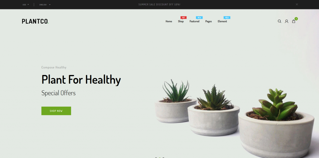 Plantco - Home & Garden Shopify Theme