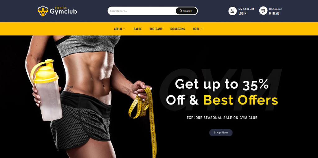 Gym Club - Sport & Fitness PrestaShop Theme