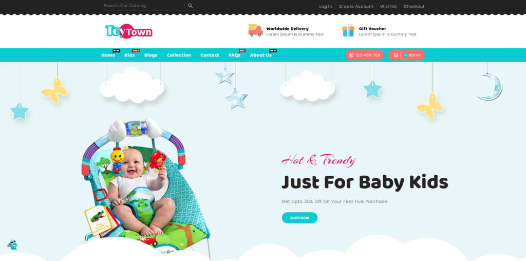 Toytown Shopify Theme