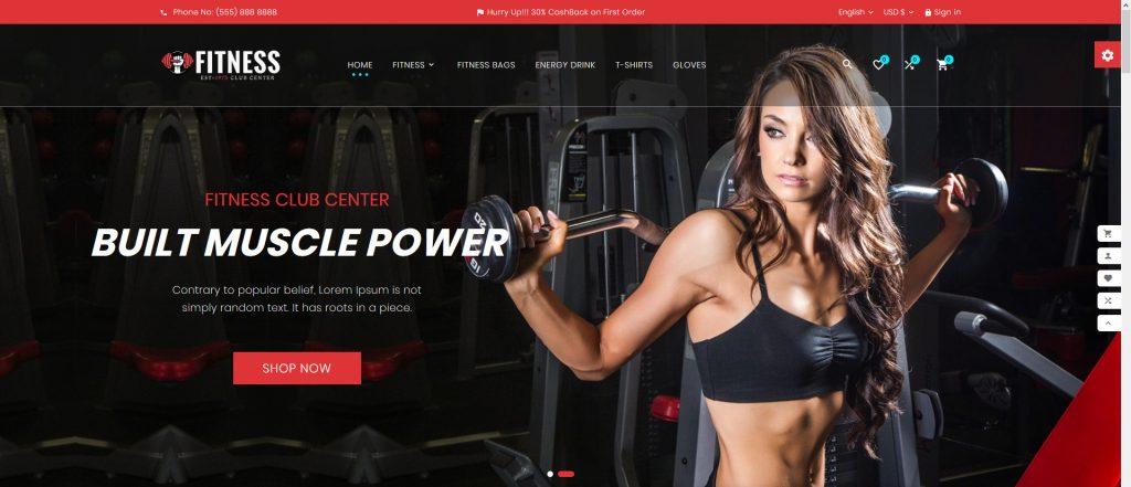 Fitness PrestaShop Theme