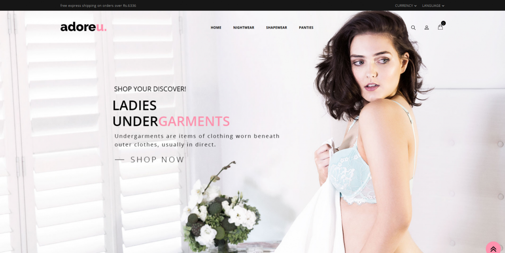 Lingerie Store OpenCart Theme