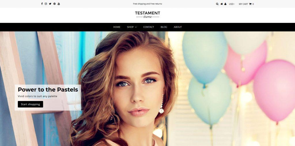 Testament Shopify Theme
