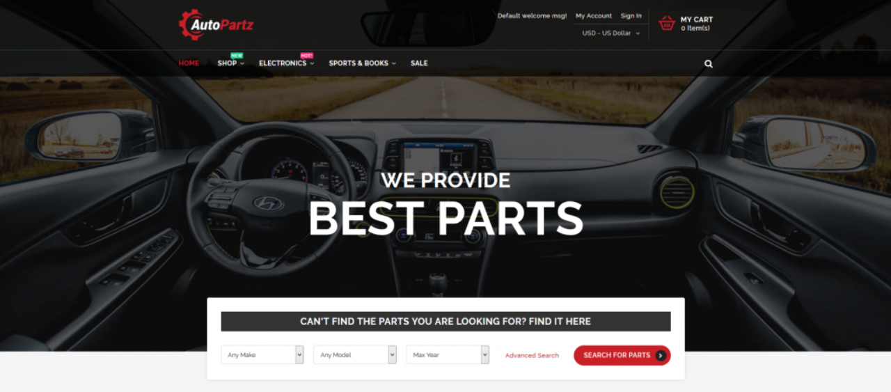 AutoPartz Best Magento 2 Templates