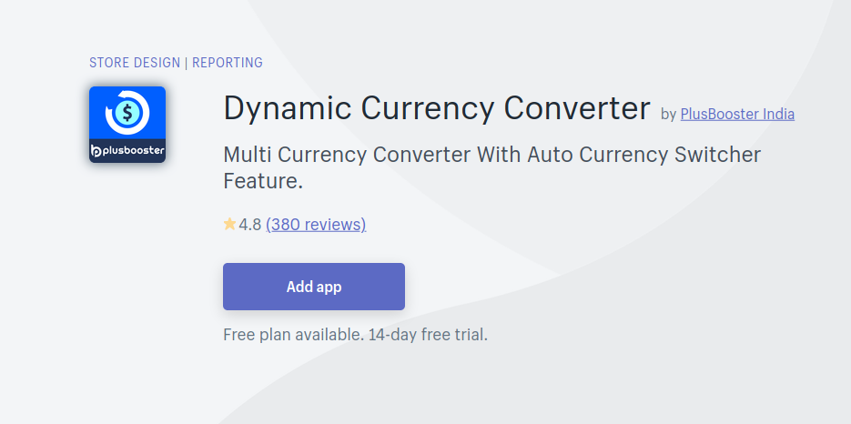 Dynamic Currency Converter