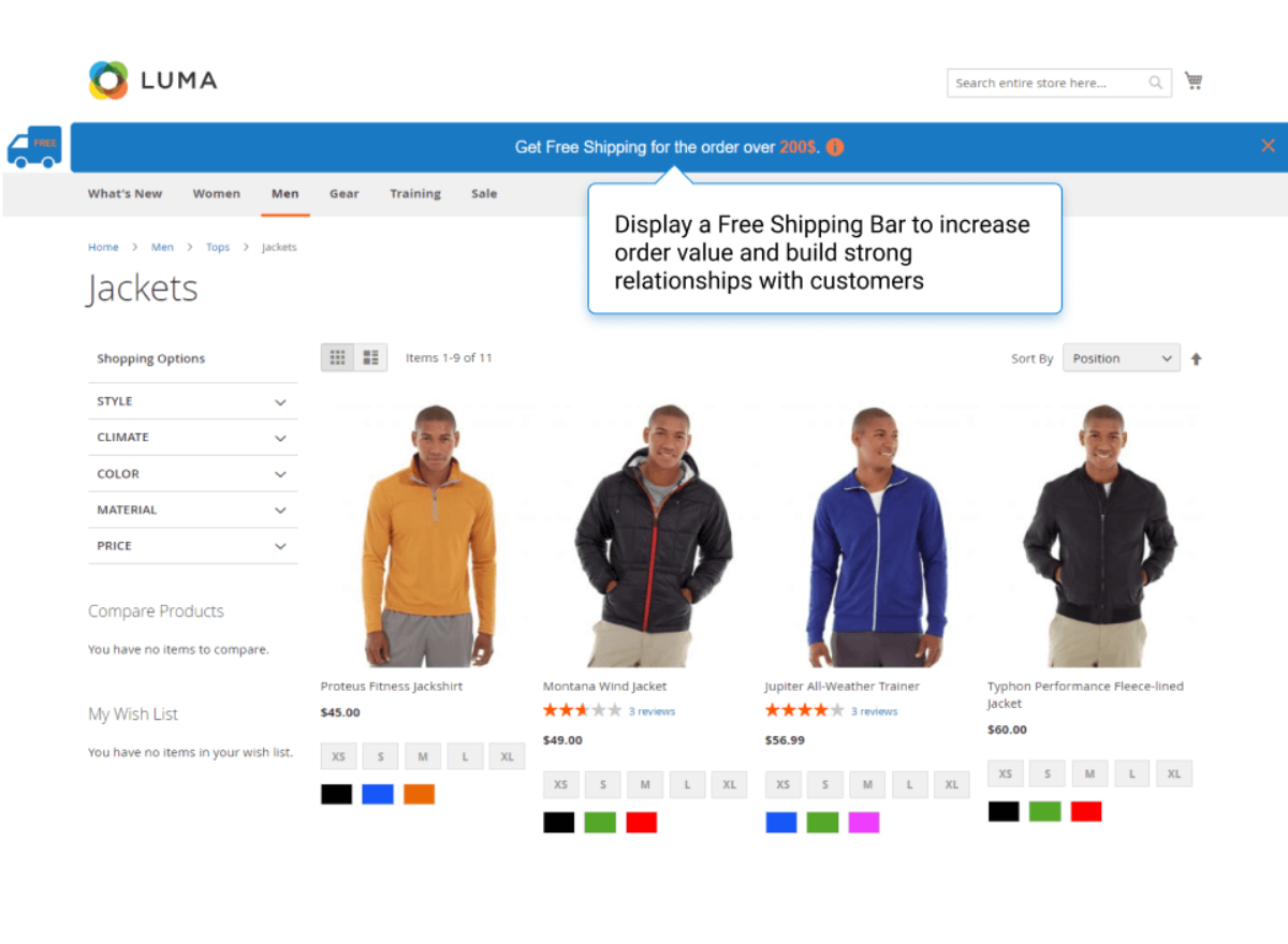 Free Shipping Bar For Magento 2 Best Magento 2 Extension